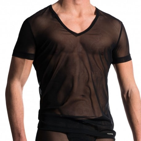 T-Shirt V-Neck M608 Noir