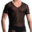 M608 V-Neck T-Shirt - Black