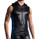 M604 Hoody Tank Top - Black - Royal