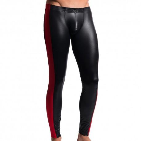 M604 Thght Legging - Black - Red