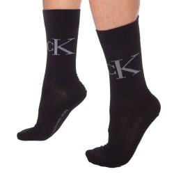 Lot de 2 Paires de Chaussettes Milo Noires Calvin Klein