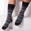 Kevin Socks - Black - Stripes