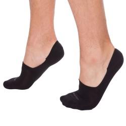 Lot de 2 Paires de Chaussettes Invisibles Luca Noires Calvin Klein