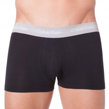 3-Pack Cotton Stretch Boxers - Black - Colored Waistband
