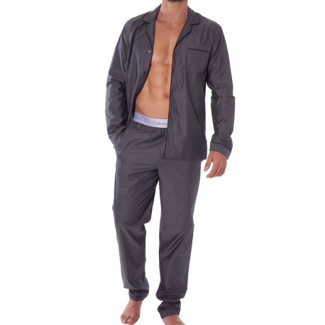 Liquid Cotton Sateen Homewear Set - Grey