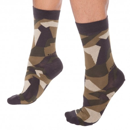 Chaussettes Camouflage Vertes