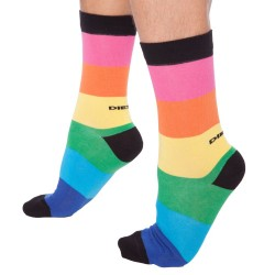 Chaussettes Rayures Larges Multicolores Diesel