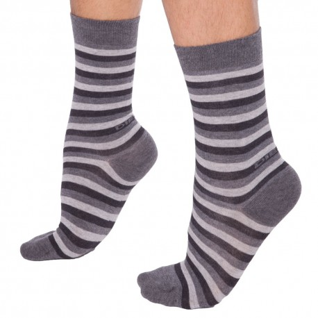 Stripe Socks - Grey