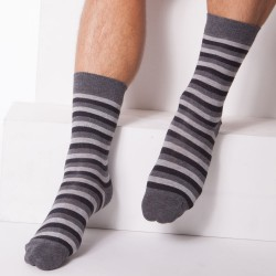 Chaussettes Rayures Grises Diesel