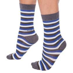 Lot de 3 Paires de Chaussettes - Bleu - Etoiles - Rayé Diesel