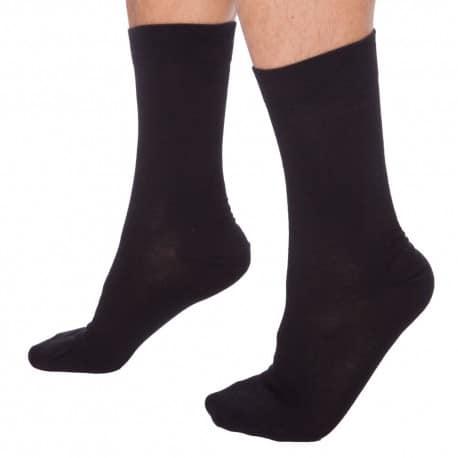 Lot de 3 Paires de Chaussettes Coton Noires