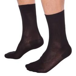 Lot de 2 Paires de Chaussettes Fil d\'Ecosse Noires DIM