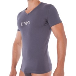 T-Shirt Stretch Cotton Gris Emporio Armani