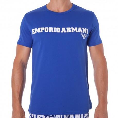T-Shirt Logomania Bleu Electrique