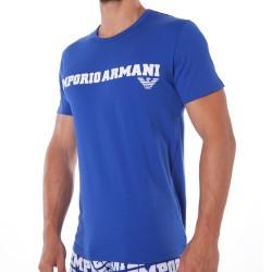 T-Shirt Logomania Bleu Electrique Emporio Armani