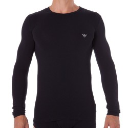 T-Shirt Manches Longues Athletics Big Eagle Noir Emporio Armani