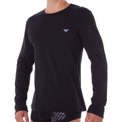 T-Shirt Manches Longues Shiny Logo Band Noir Emporio Armani