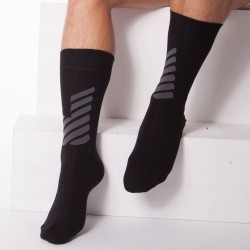 Chaussettes Plain Stretch Cotton Noires Emporio Armani