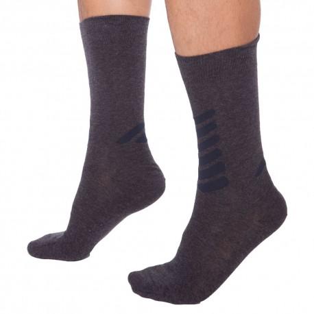 Plain Stretch Cotton Socks - Dark Grey