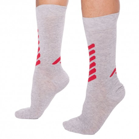 Plain Stretch Cotton Socks - Pale Grey