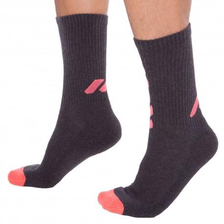 2-Pack Sponge Cotton Socks - Dark Grey