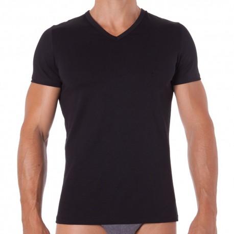 T-Shirt Classic V-Neck Noir