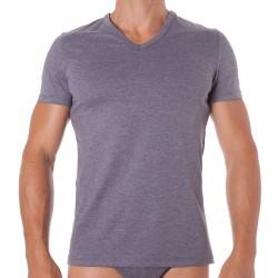 T-Shirt Classic V-Neck Gris HOM