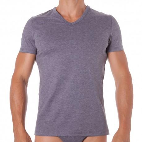 T-Shirt Classic V-Neck Gris