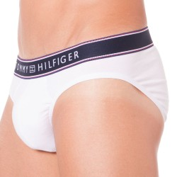 Slip Cotton Stripe Blanc Tommy Hilfiger