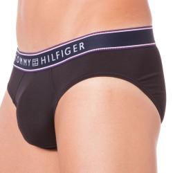 Slip Micro Flex Stripe Noir Tommy Hilfiger