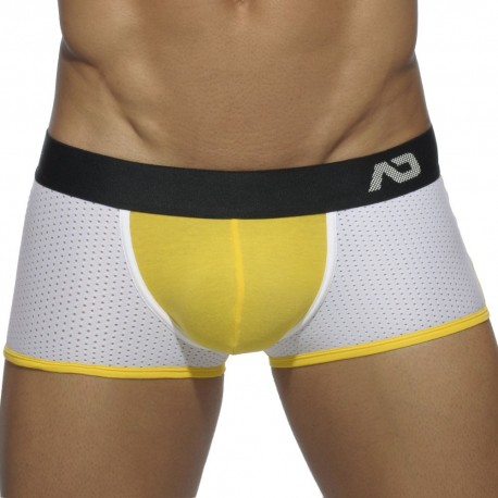 Contrast Mesh Boxer - Yellow