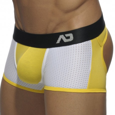 Contrast Mesh Bottomless Boxer - Yellow