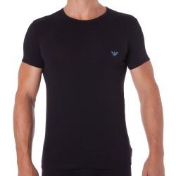 T-Shirt Shiny Logo Band Noir Emporio Armani