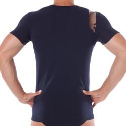 T-Shirt Shiny Logo Band Marine Emporio Armani