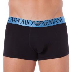 Boxer Shiny Logo Band Noir Emporio Armani