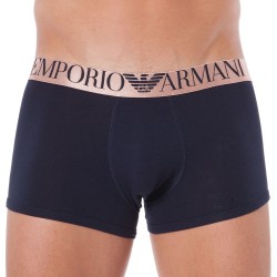 Boxer Shiny Logo Band Marine Emporio Armani