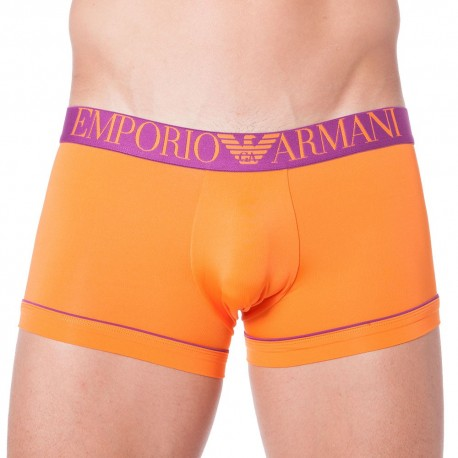 Boxer Fluo Piping Microfiber Orange