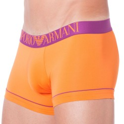 Boxer Fluo Piping Microfiber Orange Emporio Armani