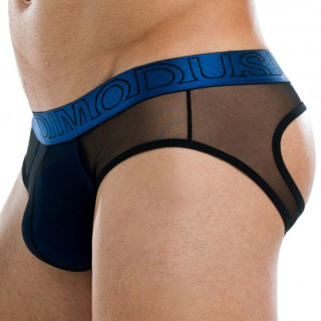 Transparent Bottomless Brief - Blue
