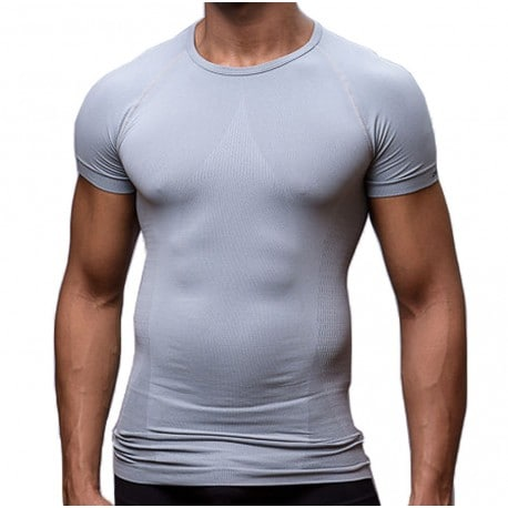 T-Shirt Elegant Tight Fitting Gris