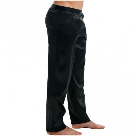 Pantalon Satin Noir