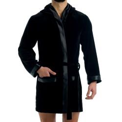 Robe de Chambre Velvet Satin Noir Modus Vivendi