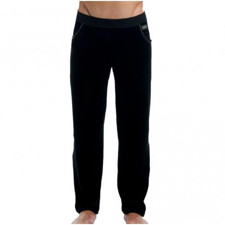 Velvet Satin Pants - Black