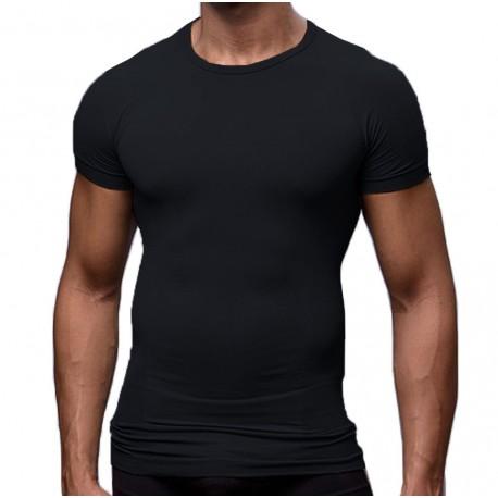 T-Shirt Elegant Tight Fitting Noir