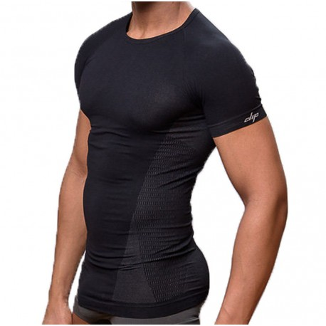 T-Shirt Elegant Tight Fitting Noir