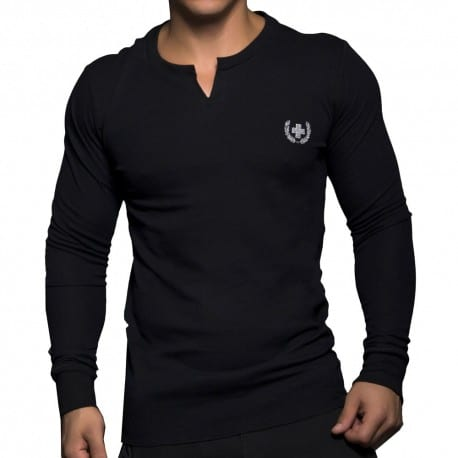 Laurel Clip Thermal Long Sleeved T-Shirt - Black