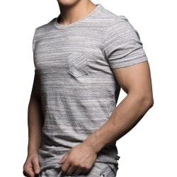T-Shirt Linear Naturel Andrew Christian
