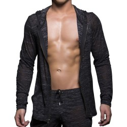 Veste Touch Skinny Hoodie Grise Andrew Christian