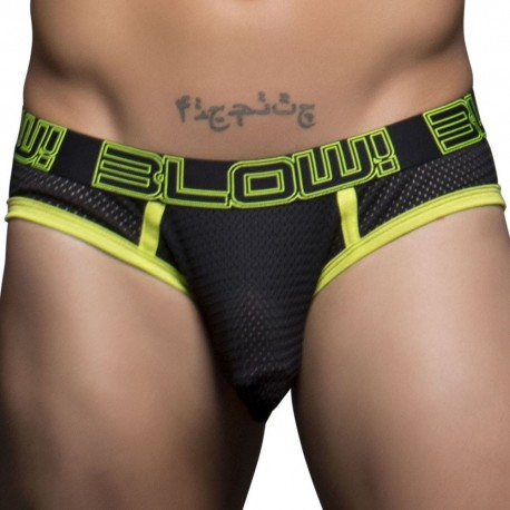 Blow! Mesh Brief - Black