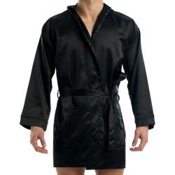 Robe de Chambre Satin Noir Modus Vivendi